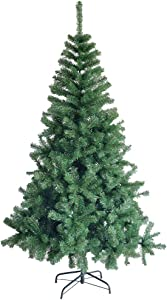 Christmas Tree,6/7 Ft White Artificial Christmas Tree, Flocked Snow Trees,Eco-Friendly Artificial Pine Tree with Metal Stand&Decoration (6 Foot, Green)