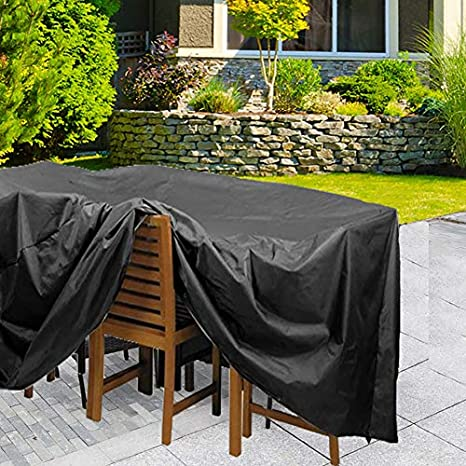 iiSPORT Waterproof Garden Furniture Rectangular Table Cover Extra Large Outdoor Table Cover for Garden Furniture 200x160x70cm