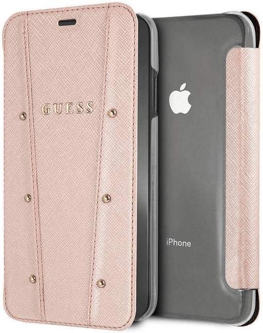 Guess Funda Tipo Libro con Tarjetero iPhone XS MAX Rosa: Amazon.es: Electrónica
