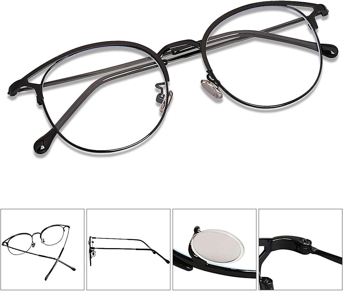SOJOS Montatura Occhiali da Vista Donna Vintage Occhiali per Computer Anti Luce Blu Cateye Rotondi Anti-affaticamento Antiriflesso SJ5035 Oasis