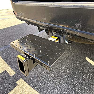 MaxxHaul 70069 Hitch Extender With Step, 4000-lb Max Towing Weight, 400-lb Tongue Weight.: Automotive