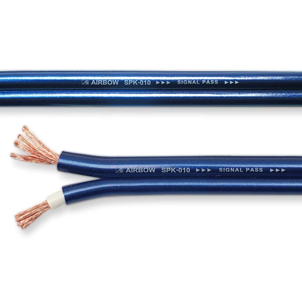 AIRBOW エイジング済みスピーカーケーブル《両端カット済み》 メタリックブルー SPK-010 (3.0mペア) 3.0mペア  B07K1MLRLZ