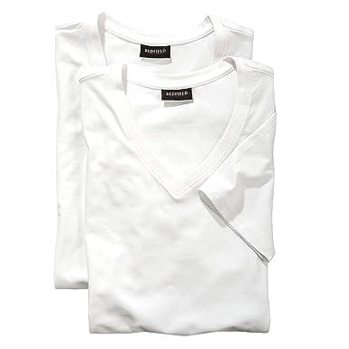 t-shirt blanc lot de deux col V Redfield grande taille  Amazon.fr ... ad2a26577105