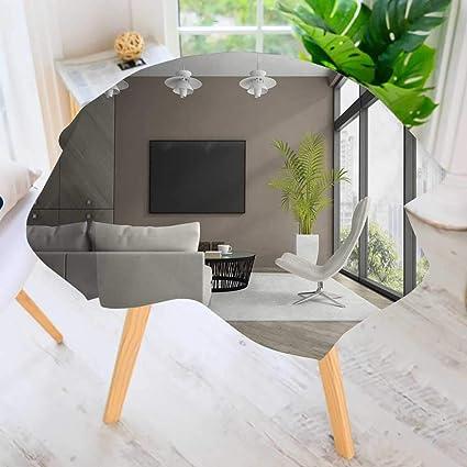 Amazoncom Prunus Circular Solid Polyester Tablecloth