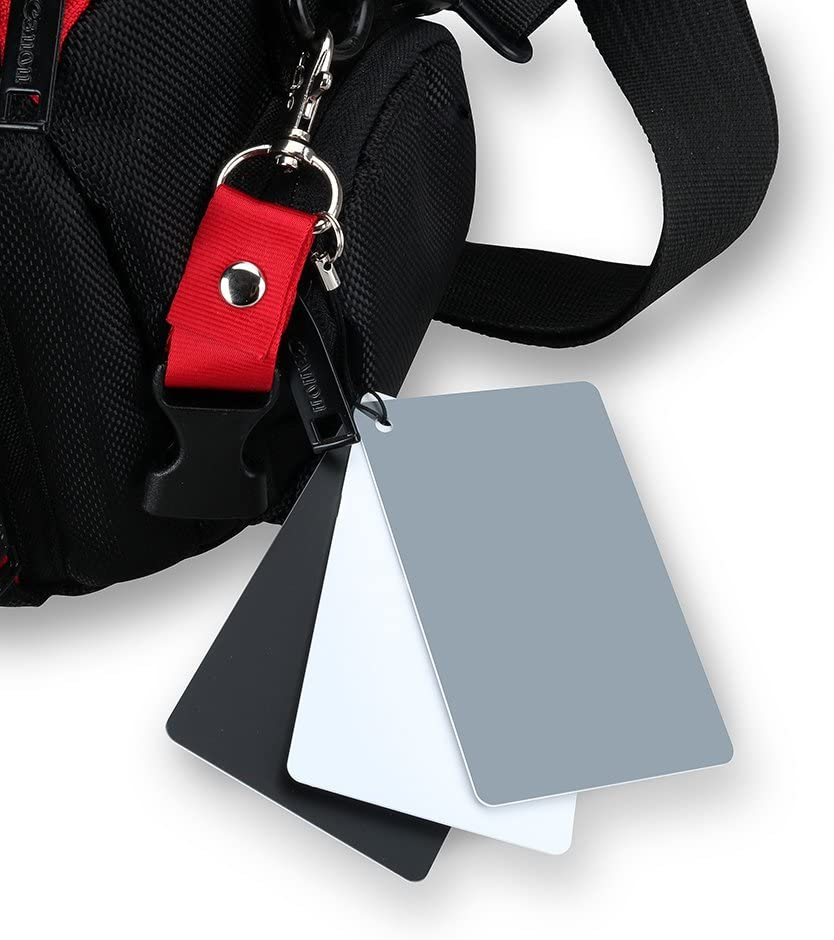 Reino Unido 3 en 1 digital compacta de tamaño de bolsillo Balance de Blanco Negro Gris 18/% Tarjeta Gris