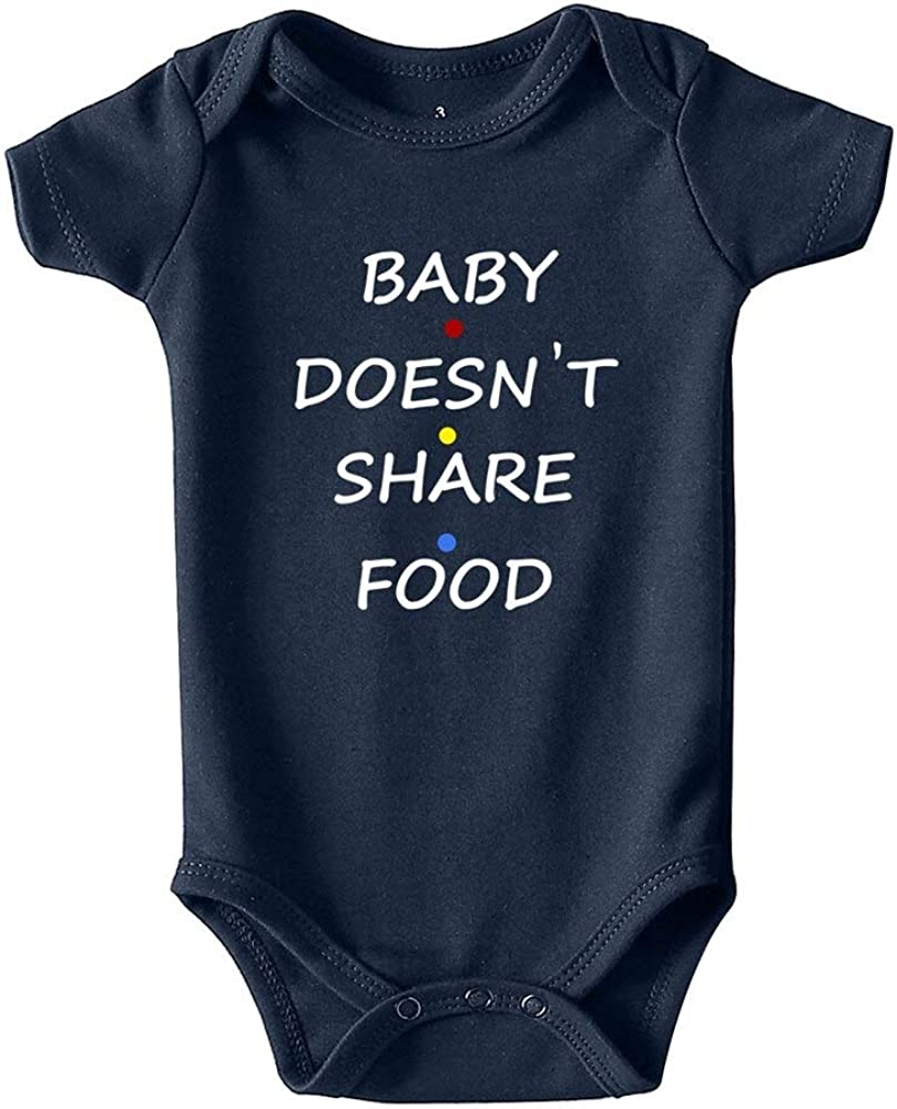 Baby Doesn't Share Food Baby Boy Clothes Unisex Funny Onesies