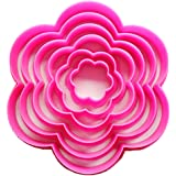 Joylive 6pcs Plum Blossom Flower Shape Cake Biscuit Cookie Cutter Decorating Mold Tools