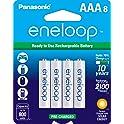 8-Pack Panasonic Eneloop AAA Rechargeable Ni-MH Batteries