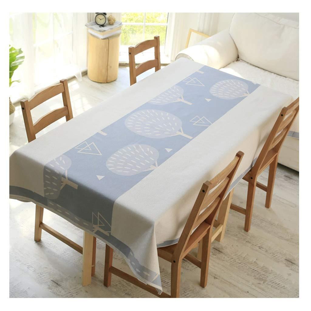 ラウンドテーブルクロス 塗られた簡単なテーブルクロスの綿および麻布の民族の長方形のテーブルクロスのコーヒーテーブルクロス テーブルクロス (サイズ さいず : 140×230cm) 140×230cm  B07RXT5S5G