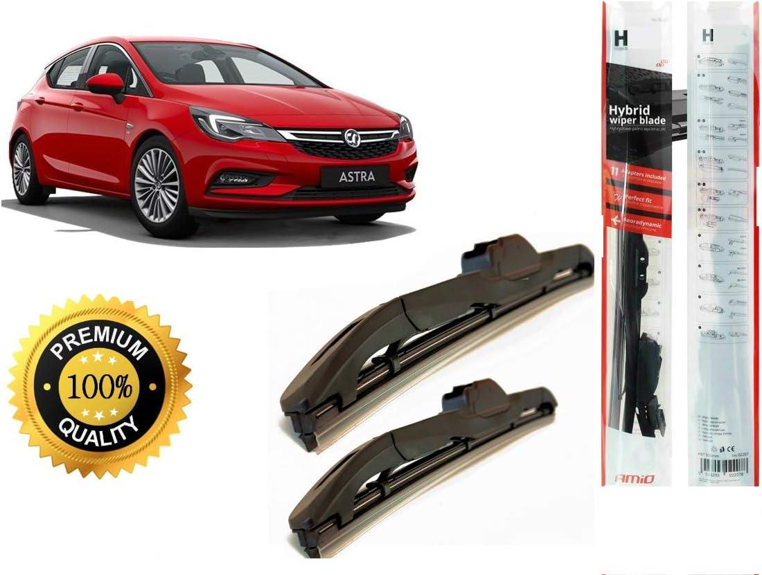 Amio Hybrid Spezial Scheibenwischer Set Für Vauxhall Astra Mk7 2015 Abmessungen 700 600 Mm Auto