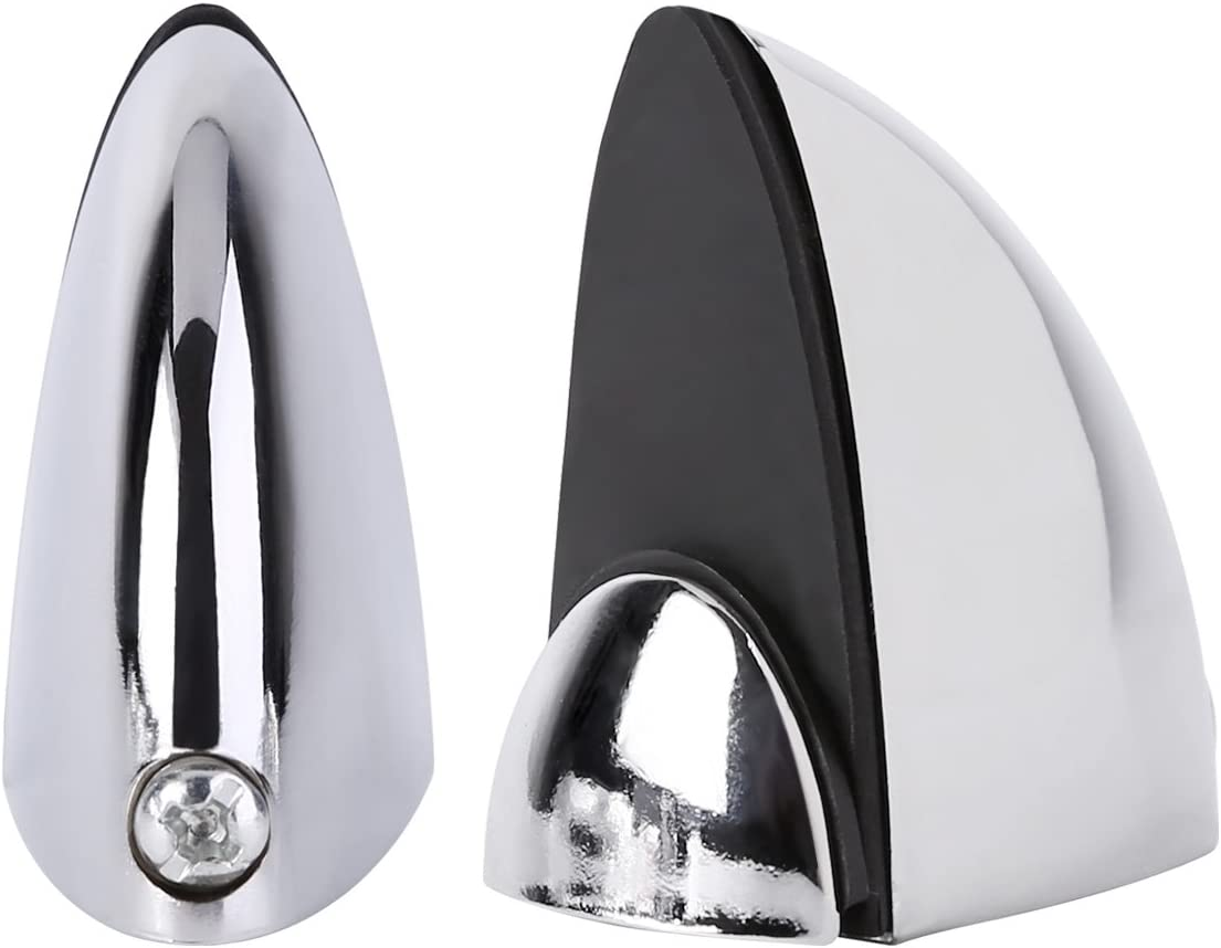 4 x estante de cristal cromo pulido abrazadera de ba/ño compatible con soportes para estantes tama/ño peque/ño