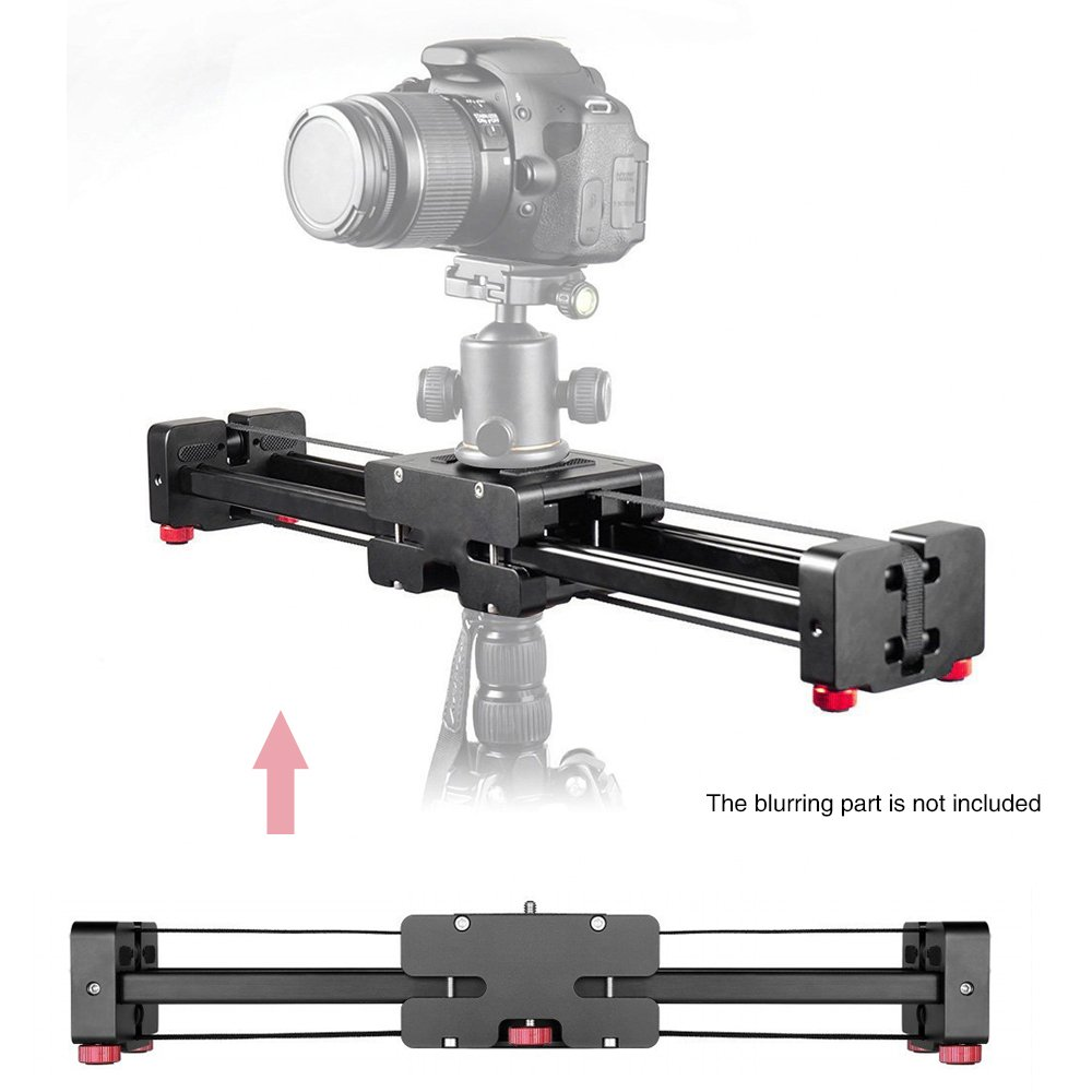 Mcoplus Portable 3/8'' Adjustable Slider 400mm Extendable Travel Double Distance Video Stabilizer for Canon Nikon Sony DSLR DV Camera & Camcorder Dolly Stabilizer, Load Capacity 17.7lbs/8kg by Mcoplus