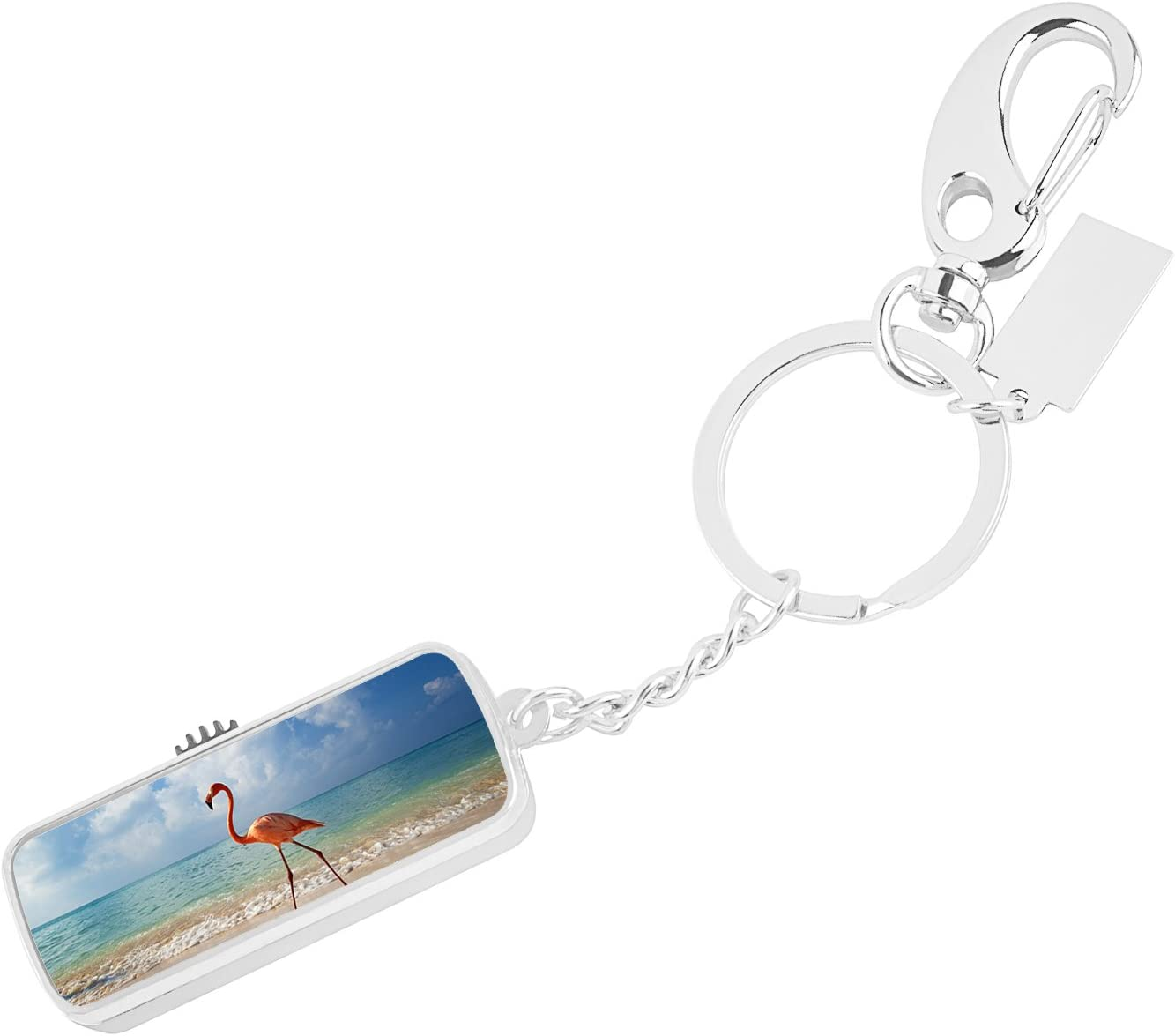 USB Flash Drive Ultra 16 GB Memory USB 2.0 High Speed Data Storage Personalize Customed Best Gift Silver - Flamingo