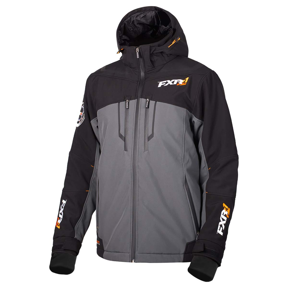 FXR Mens Vertical Pro Insulated Softshell Jacket Charcoalcoal//Black, Medium