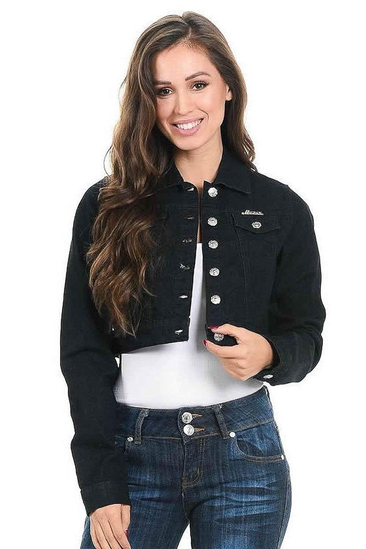 Style 292B ActiveNowCA M.Michel Womens Denim Jacket
