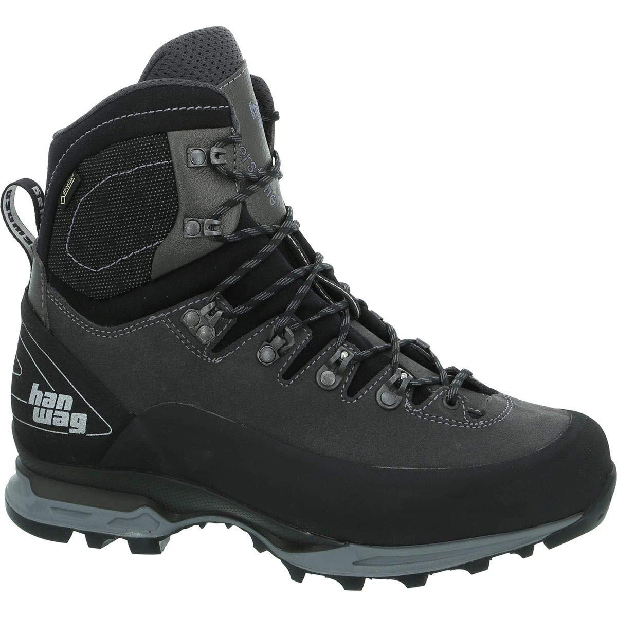 Hanwag Alverstone II GTX Backpacking Boot - Men's Asphalt/Light Grey, US 11.5/UK 10.5 by Hanwag