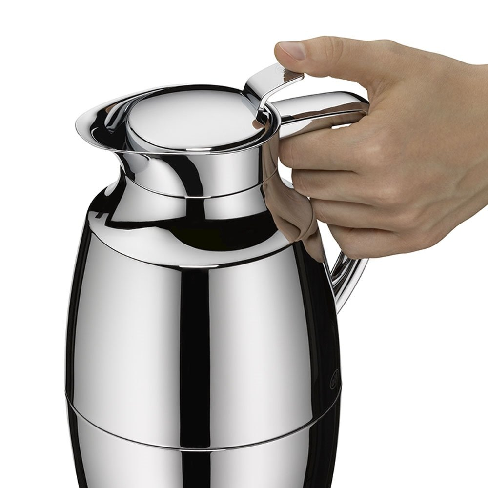 alfi Pallas Glass Vacuum Chrome Plated Brass Thermal Carafe for Hot and Cold Beverages, 1.0 L, Chrome by Alfi (Image #6)