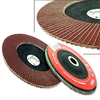 "10 Pack 4-1/2"" Aluminum Oxide Flap Disc 80 Grit by HILTEX"