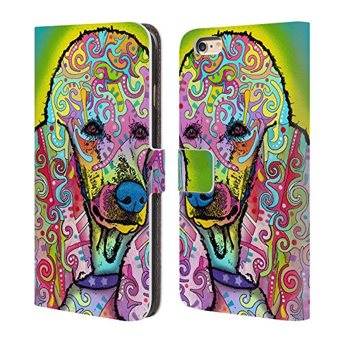 Official Dean Russo Poodle Dogs 3 Leather Book Wallet Case Cover For Apple iPhone 6 Plus / 6s Plus (Poodle Cover)