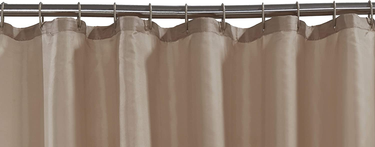 VIBRANT LATTE BEIGE SHOWER CURTAIN 180CM X INCLUDES RINGS 4 Your Home