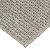 Andersen 250 WaterHog Drainable Polypropylene Entrance Outdoor Floor Mat, 6' Length x 4' Width, Medium Grey