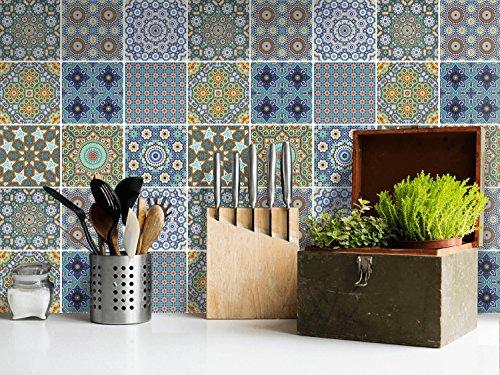 Autocollant Carrelage Mosaique | Stickers Oriental Pour Mural