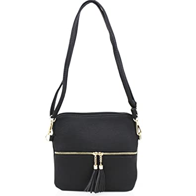 a97eea827b LeahWard Women s Small Cross Body Bags Nice Soft Shoulder Bags Tassel  Handbags For Her Holiday Party