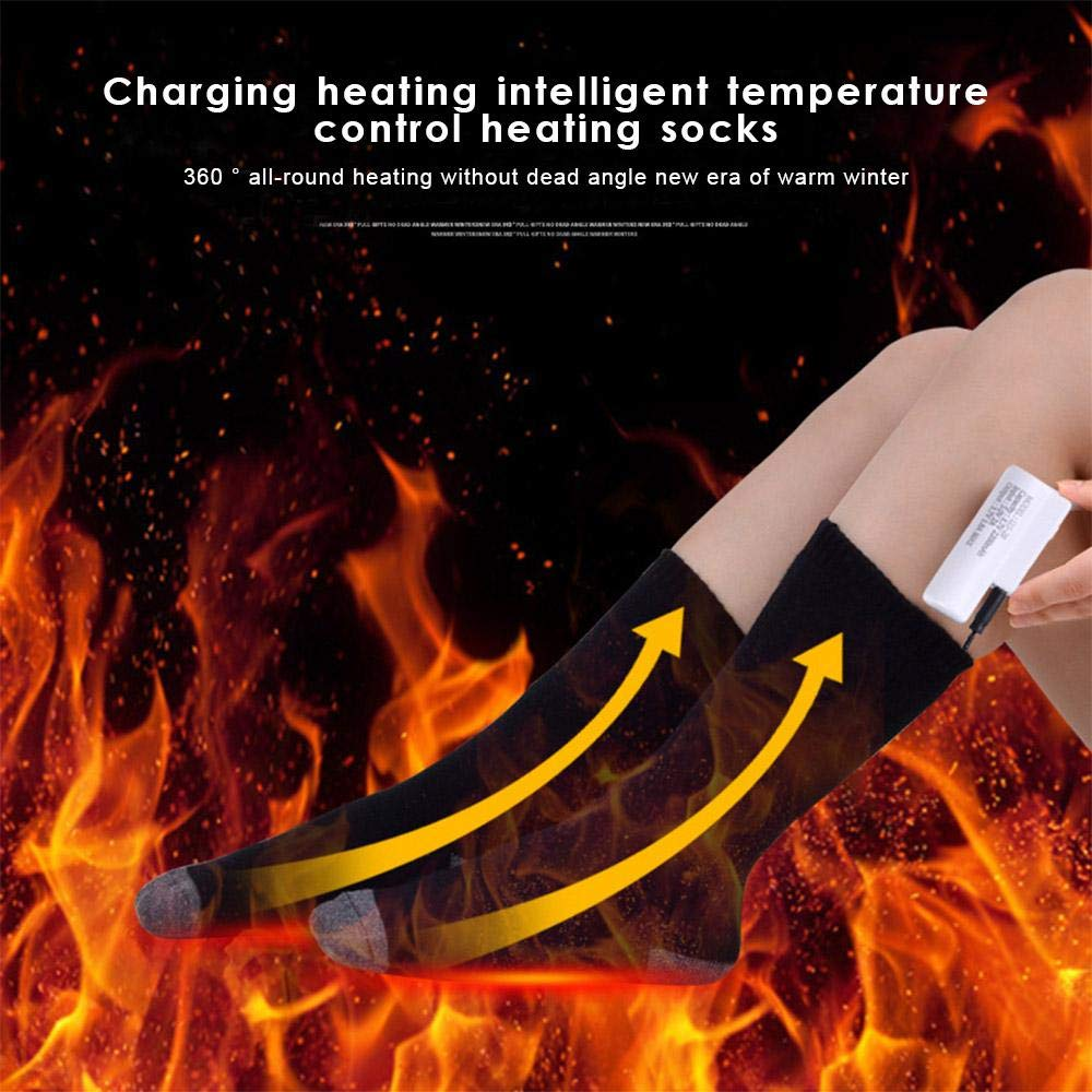 Electric Heated Socks Foot Warmer Rechargeable Heating Socks for Men/&Women Free Size, Adults Washable Winter Heat Socks Cotton Heating Ski Socks for Winter Sports Adjustable Temperature