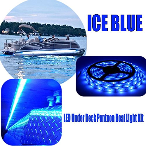 RestorePontoon Boat Under Deck LED Lighting Kit-ICE BLUE - Kit Deck Pontoon
