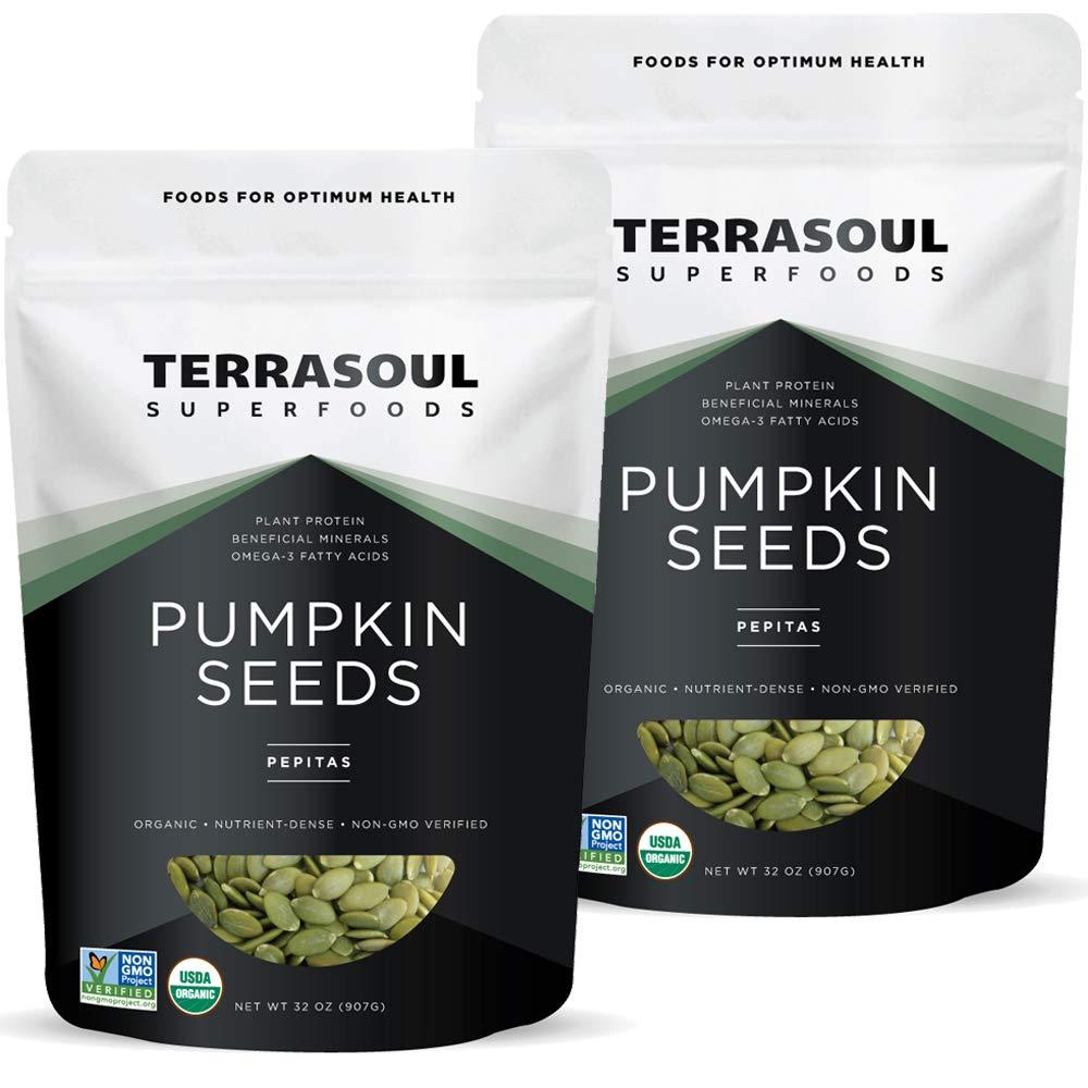 Terrasoul Superfoods Organic Pumpkin Seeds, 4 Lbs - Premium Quality | Fresh | Raw | Unsalted