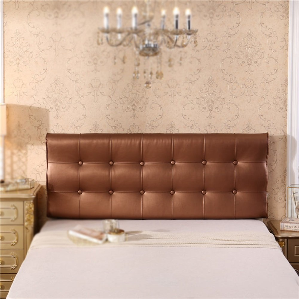 Double bed backrest / leather bedside cushion / curved S-shaped bedside cushion / sofa cushion ( Color : C , Size : 1206010cm )