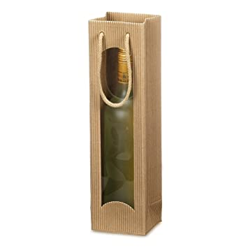 Weinkarton24.com - Bolsa para botella de vino (cabe 1 ...