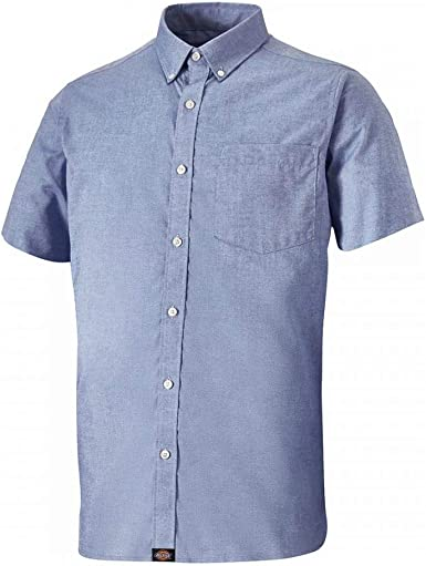 Dickies Mens Premium Short Sleeve Tailored Cotton Shirt: Amazon.es: Ropa y accesorios