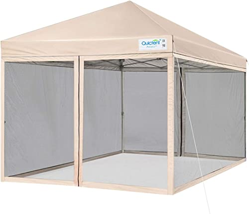 Quictent 10×10 Easy Pop up Canopy Screened