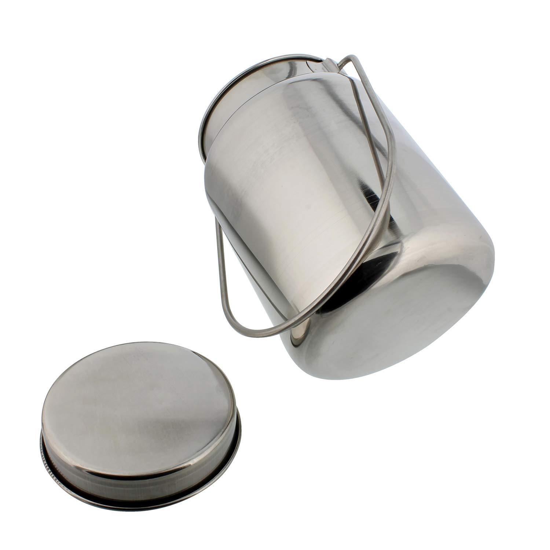4L Rural365 Metal Milk Jug 1 Gallon Metal Milk Can Juice Container Stainless Steel Jug /& Lid Milk Bottle with Lid