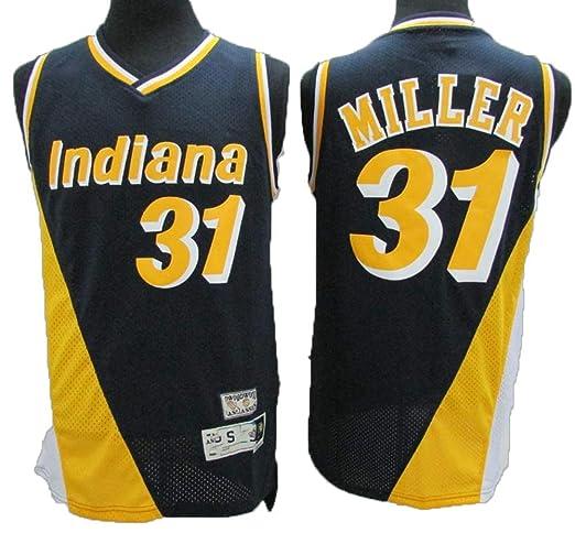 TTHU Camisetas De Baloncesto para Hombre - Pacers 31# Miller ...