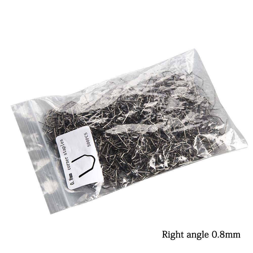 Set 0,8 mm 0,6 mm de Acero Inoxidable Grapa Grapas Caliente Soldador por un Coche de Parachoques de pl/ástico reparaci/ón de Soldadura Reparaci/ón Grapas Calientes Accesorios de soldadura 500PCS