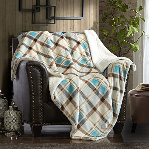 """Merrylife Decorative Sherpa Throw Blanket Ultra-Plush Comfort 