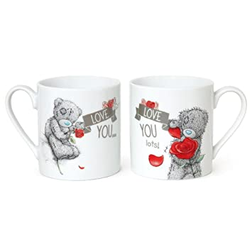 277486afcab Love You Me to You Bear Double Mug Gift Set: Amazon.co.uk: Toys & Games