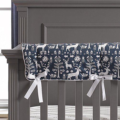 Liz and Roo Woodland Forest (Navy) Crib Rail Cover by Liz and Roo