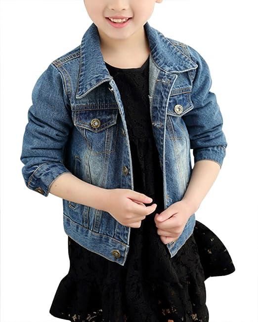 recogido estilo de moda de 2019 sitio oficial ZiXing Chaqueta Vaquera Manga Larga Ropa Infantil Primavera Verano  Cazadoras para Niños/Niñas