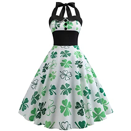 ce4d638ecbd Image Unavailable. Image not available for. Color  Lywey Women St. Patrick s  Day Dress ...