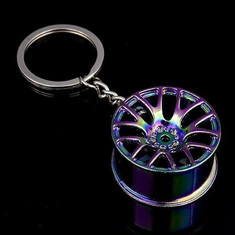 Amazon.com: BR elegante anillo de radios Llanta Llavero Key ...