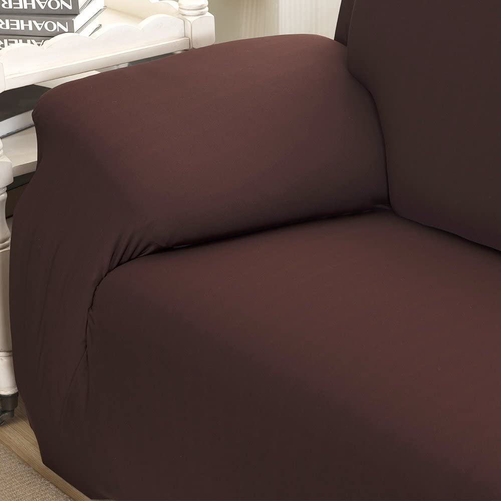 Chocolate Stronghigheu 1 Seat Couch Recliner Chair Slipcovers Sofa Thickened Protecor Ultra Soft Wing Back Arm Chair Cover for Pets Kids