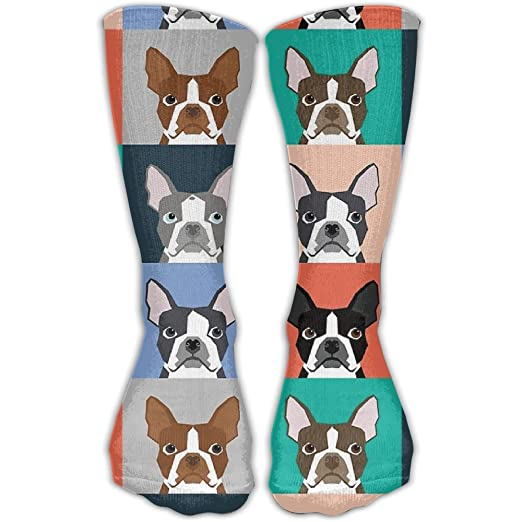 Unisex French Bulldog Fashion Crew Sock Athletic Ankle Dress Sock One Size