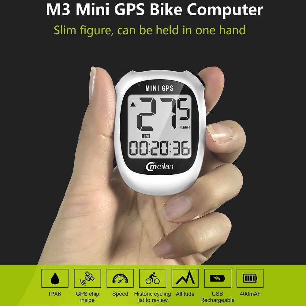 Deportes Al Aire Libre Impermeable del USB Luz De Fondo FSTN Bicicletas Tabla De C/ódigos CE Recargable GOMOV GPS Inal/ámbrico Mini Computadora De La Bicicleta De Ciclo del Veloc/ímetro del Od/ómetro