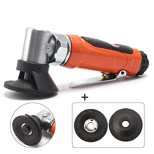 Pneumatic 2-Inch Mini Air Angle Grinder Cut Off Tool Mini Wheel Grinders With 3Pcs 2 Grinding Wheel