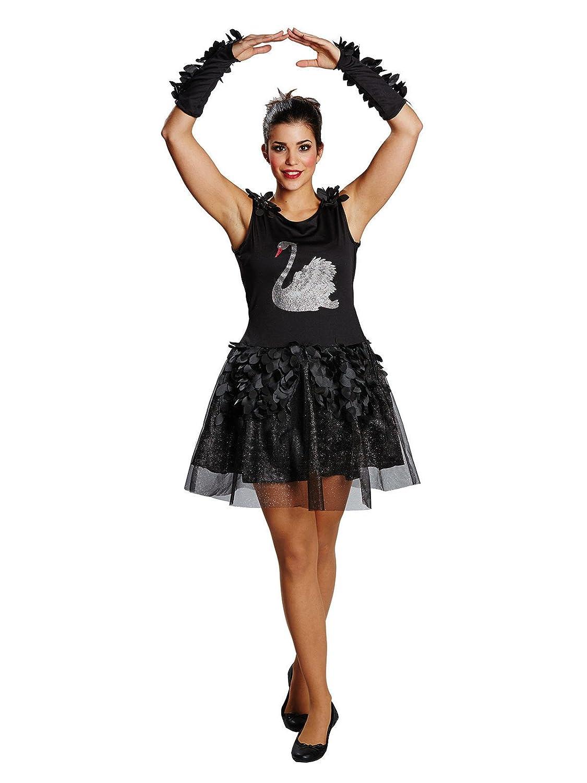 Elegante Cisne Halloween para mujer Disfraz Negro Gris: Amazon.es ...