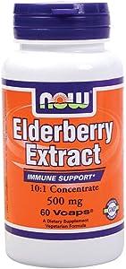 NOW Foods Elderberry Extract - 500 mg - 60 Vcaps