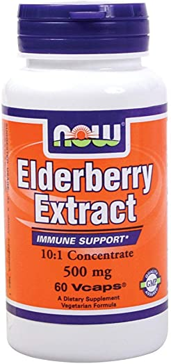 NOW Foods Elderberry Extract – 500 mg – 60 Vcaps